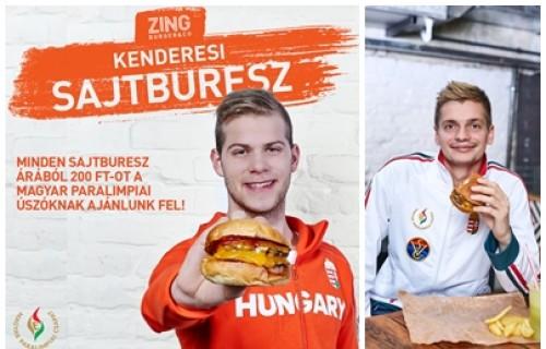 Jótékony sajtburger - a Zing Burger a paraúszókat támogatja