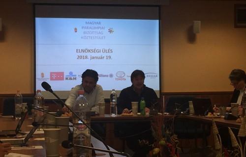 A Magyar Paralimpiai Bizottság elnöksége megtartotta a 2018. évi első ülését