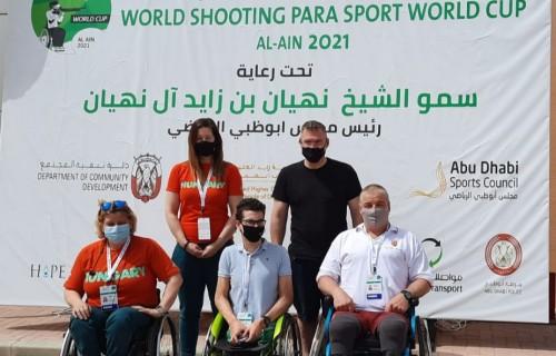 Egy bronzérem, két junior világcsúcs, szép eredményeket értek el parasportlövőink a világkupán