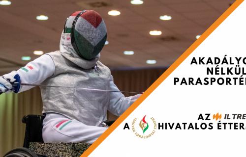 A Magyar Paralimpiai Csapat hivatalos étterme lett az IL Treno