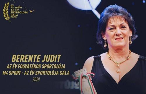 Berente Judit az Év Fogyatékos Sportolója