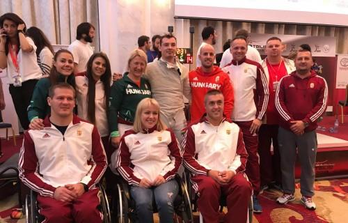 Egy arany, három ezüst, és két bronzéremmel, - az éremtáblázat ötödik helyén fejezte be az első paralimpiai kvalifikációs versenyét a kerekesszékes vívó válogatott.