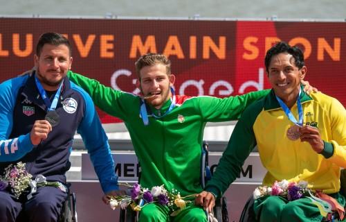 Kiss Péter világbajnok, történelmi aranyérem, az első világbajnoki magyar aranyérem a para kajak sportágban!