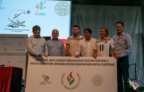 Együttműködés a Magyar Paralimpiai Bizottság és a Nemzeti Közszolgálati Egyetem között, 20 nap múlva indul a budapesti ülőröplabda Európa-bajnokság!