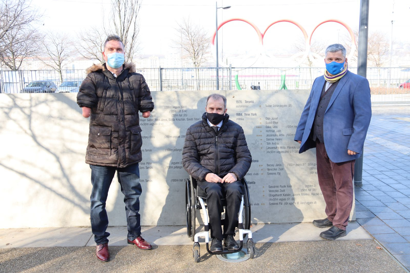 Magyar Parasport Napja 2021 - Koszorúzás